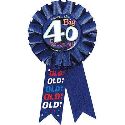 Oh No 40th Birthday Award Ribbon