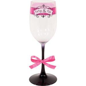 Forty & Fab Birthday Wine Glass