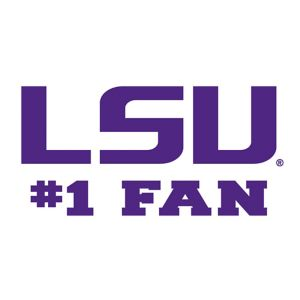 Louisiana State Tigers #1 Fan Decal