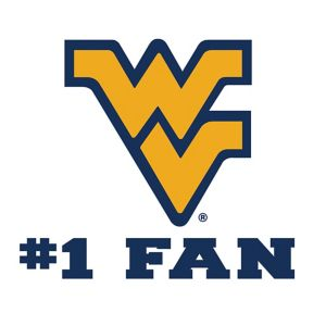 West Virginia Mountaineers #1 Fan Decal