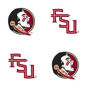 Florida State Seminoles Face Tattoos 4ct