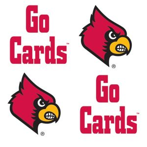 Louisville Cardinals Face Tattoos 4ct