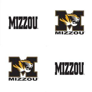Missouri Tigers Face Tattoos 4ct