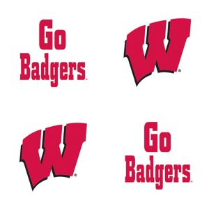 Wisconsin Badgers Face Tattoos 4ct