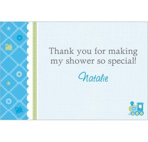 Custom Welcome Little One Boy Thank You Notes