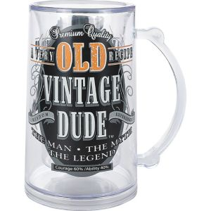Vintage Dude Old Person Birthday Mug