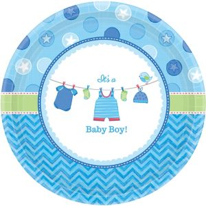 It's a Boy Baby Shower Dinner Plates 8ct