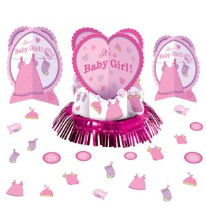 It's a Girl Baby Shower Table Decorating Kit 23pc