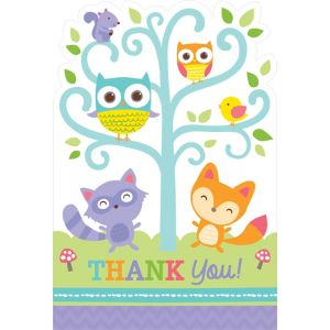 Woodland Baby Shower Thank You Notes 8ct