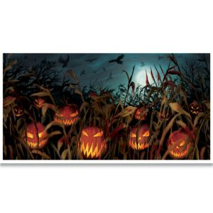 Giant Evil Jack-o-Lanterns Banner - Field of Screams