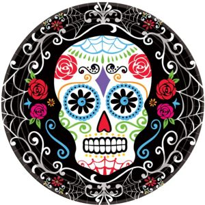 Sugar Skull Dessert Plates 18ct - Day of the Dead