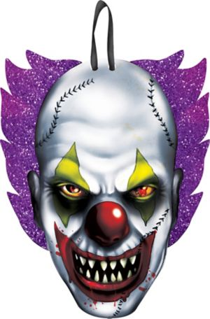Glitter Hanging Scary Clown Sign