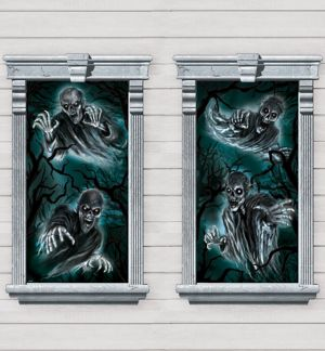 Haunted Forest Window Posters 2ct