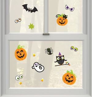 Friendly Halloween Cling Decals 15ct