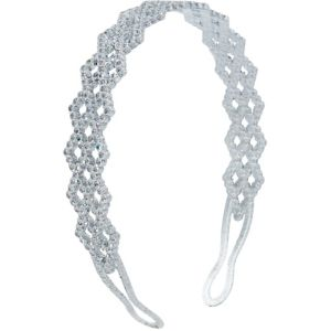 Child Silver Glitter Lattice Headband