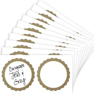 Gold Favor Sticker Labels 20ct