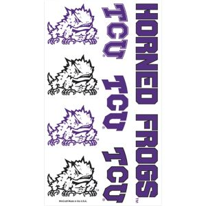 TCU Horned Frogs Tattoos 7ct