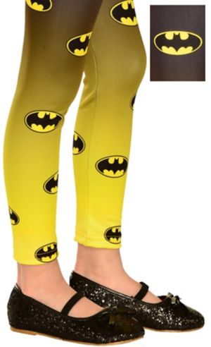 Child Batgirl Footless Tights - Batman