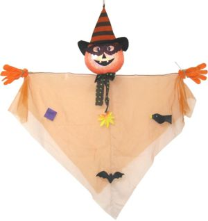 Hanging Friendly Scarecrow Jack-o'-Lantern