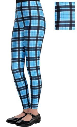 Child Geek Chic Blue Plaid Leggings