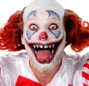 Scary Clown Face Tattoos 12pc