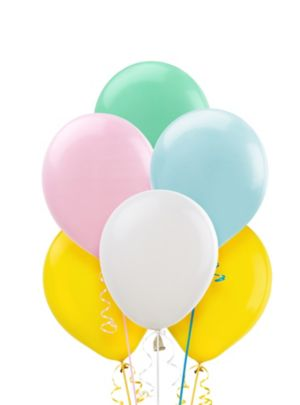 Assorted Pastel Balloons 20ct