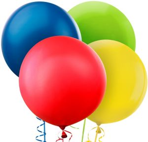 Assorted Color Balloons 4ct