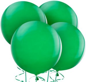 Festive Green Balloons 4ct