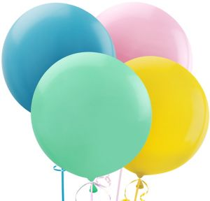 Assorted Pastel Balloons 4ct