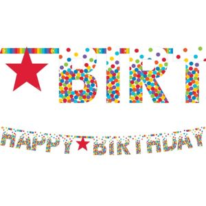 Giant Rainbow Happy Birthday Letter Banner