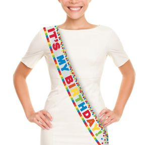 Metallic Rainbow Birthday Sash