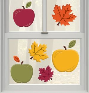 Fall Apples Gel Cling Decals 9ct
