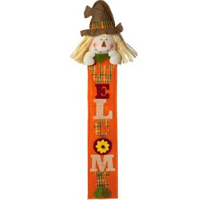 Felt Friendly Scarecrow Welcome Sign
