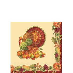 Joyful Thanksgiving Beverage Napkins 125ct
