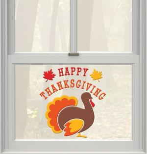 Thanksgiving Gel Cling Decals 24ct