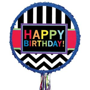 Pull String Celebrate Happy Birthday Pinata