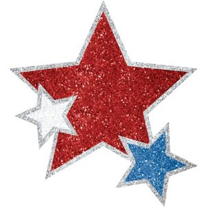 Red, White & Blue Star Body Jewelry