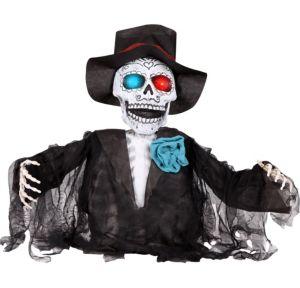 Light-Up Sugar Skull Ground Breaker - Day of the Dead