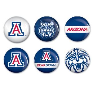 Arizona Wildcats Buttons 6ct