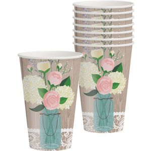Rustic Wedding Cups 8ct