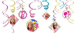 Barbie Swirl Decorations 12ct