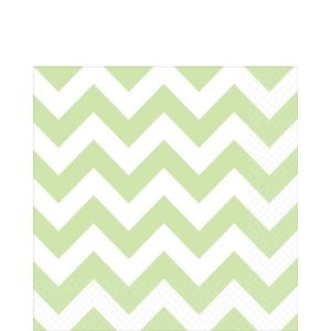 Leaf Green Chevron Lunch Napkins 16ct