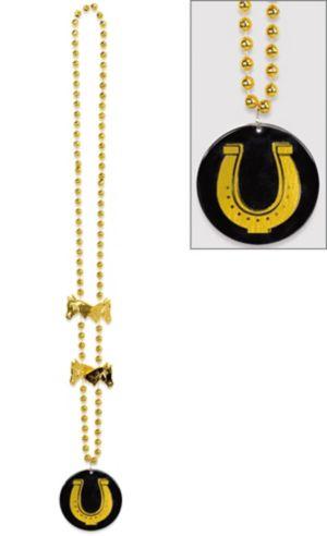 Horseshoe Pendant Necklace - Horse Racing