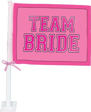 Team Bride Car Flag