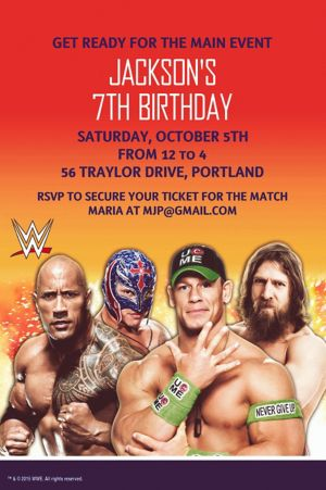Custom WWE Invitations