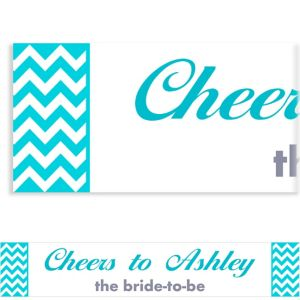 Custom Caribbean Blue Chevron Banner 6ft