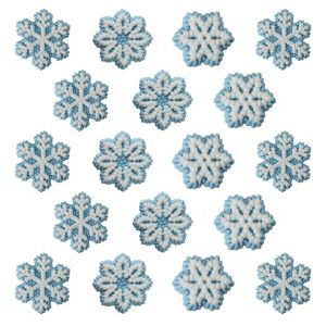 Snowflake Icing Decorations 18ct