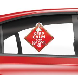 Keep Calm Christmas Car Window Sign