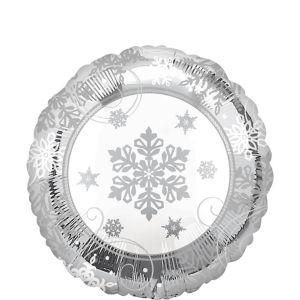 Metallic Sparkling Snowflake Balloon