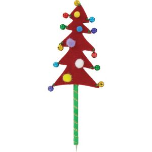 Red Jingle Bell Christmas Tree Pen